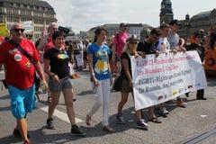 Parady Christopher Uliczny dzień Hamburg Zdjęcia Royalty Free