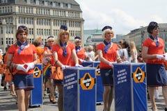 Parady Christopher Uliczny dzień Hamburg Fotografia Stock