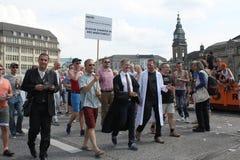 Parady Christopher Uliczny dzień Hamburg Zdjęcie Royalty Free