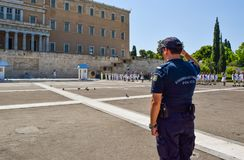 Parady odmienianie strażnik w Ateny obraz stock