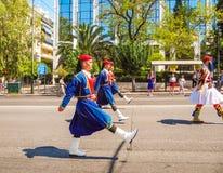 Parady odmienianie strażnik w Ateny obrazy stock