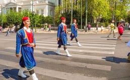 Parady odmienianie strażnik w Ateny fotografia royalty free