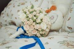 Parafernalia de la boda del novio Fotos de archivo