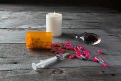 Parafernalia de la droga Fotografía de archivo libre de regalías