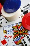 Parafernalias del póker Imágenes de archivo libres de regalías