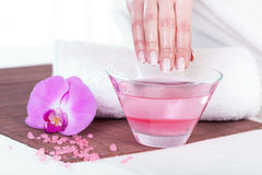 Paraffin hand treatment Royalty Free Stock Images
