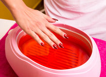 Paraffin treatment Stock Image