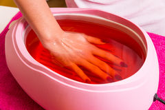 Paraffin treatment Stock Photo
