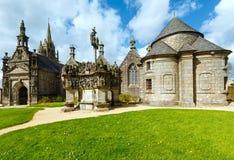 Parafia Guimiliau, Brittany, Francja zdjęcia royalty free