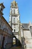 Parafia Lampaul-Guimiliau, Brittany, Francja obraz royalty free