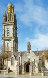 Parafia Lampaul-Guimiliau, Brittany, Francja obrazy stock