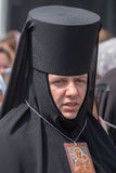 Parafianina Ortodoksalnego kościół Moskwa Ukraiński patriarchat podczas religijnego korowodu Kijów, Ukraina obrazy stock