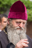 Parafianina Ortodoksalnego kościół Moskwa Ukraiński patriarchat podczas religijnego korowodu Kijów, Ukraina fotografia stock