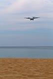 Parafuse os aviões sobre a praia Fotografia de Stock Royalty Free