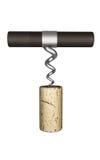 Parafuso do abridor da cortiça da garrafa de vinho Imagens de Stock