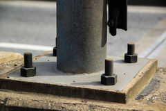 Parafuso e placa de aço Imagens de Stock
