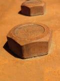 Parafuso oxidado fotografia de stock