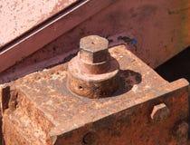 Parafuso oxidado com porca Fotos de Stock