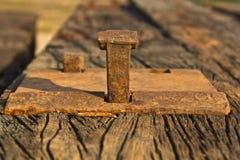 Parafuso oxidado velho do dorminhoco Foto de Stock
