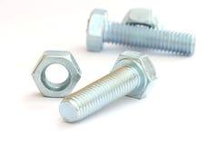 Parafusos de parafuso de prata imagem de stock
