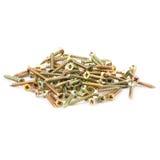 Parafusos dourados isolados no branco Fotografia de Stock
