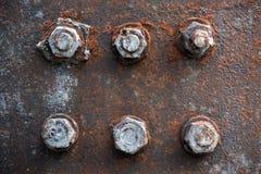 Parafusos e porcas oxidados Fotos de Stock Royalty Free