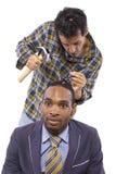 Parafusos fracos (conceito da saúde mental) imagens de stock