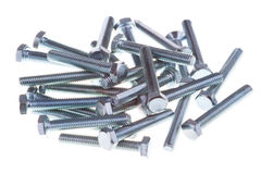 Parafusos lustrosos do zinco Imagem de Stock