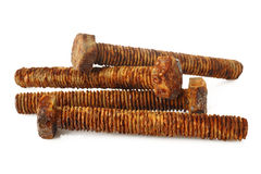 Parafusos oxidados do metal Fotografia de Stock Royalty Free