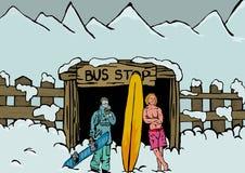Paragem do autocarro ilustração do vetor
