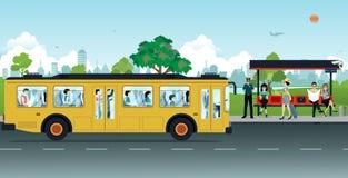 Paragem do autocarro ilustração royalty free