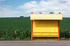 Paragem do ônibus rural Imagem de Stock