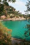 Paraggi,热那亚,利古里亚,意大利,意大利语里维埃拉,欧洲 库存图片