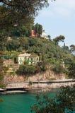 Paraggi, Genua, Ligurië, Italië, Italiaanse Riviera, Europa Stock Afbeelding
