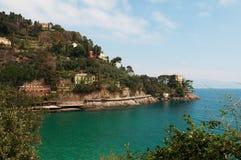 Paraggi, genua, Liguria, Włochy, włoszczyzna Riviera, Europa Obrazy Royalty Free