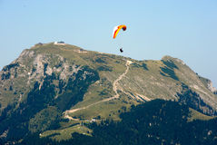 Paragider above the Alps Royalty Free Stock Photo