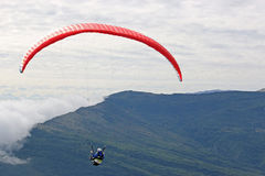 Paragider in the Alps Stock Photos