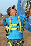 Paraglide fotografia stock libera da diritti