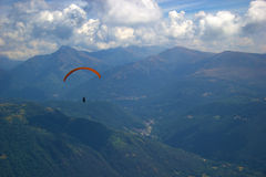 Paraglide in the mountains Stock Image