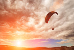 Paraglide over the valley Stock Photos