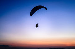Paraglide silhouette Royalty Free Stock Photo