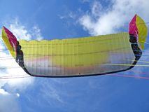 Paraglide wing. Flying under big ears Stock Images