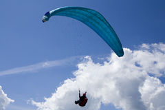 Paraglider. In the blue sky Royalty Free Stock Photography