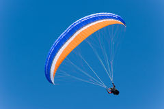 Paraglider. A paraglider in the sky Royalty Free Stock Photos