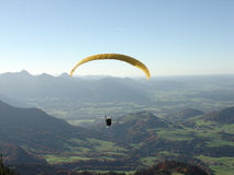 Paraglider. On a Hochries mountain in Germany Royalty Free Stock Image