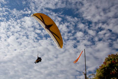 Paraglider. In a blue sky Royalty Free Stock Photography