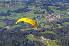 Paraglider. In southern Bavaria, Germany Royalty Free Stock Images