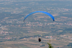 Paraglider. S over Bornes (north Portugal, Europe) landscape royalty free stock image