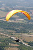 Paraglider. S over Bornes (north Portugal, Europe) landscape stock image