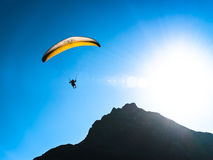 Paraglider. At the european alps Stock Image